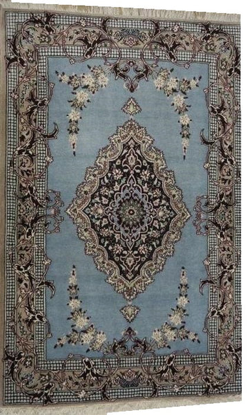 15031-Isfahan Hand-Knotted/Handmade Persian Rug/Carpet Traditional Authentic