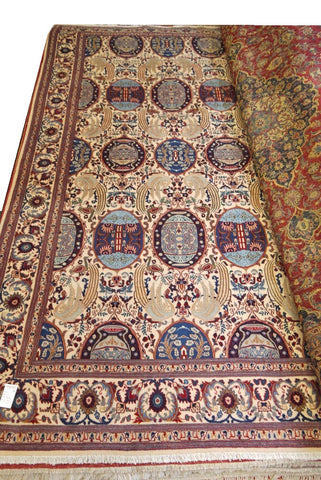 19993-Kashmar Hand-Knotted/Handmade Persian Rug/Carpet Tribal/Nomadic Authentic 13'4 x 10'0
