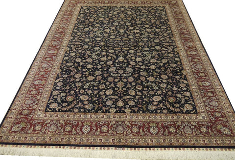 "19422 - Turkish Herike Design Hand-Knotted/Handmade Chinese Rug/Carpet Traditional Authentic9'0"" x 6'1"""