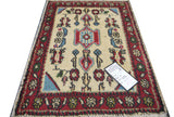 "20119 -Hamadan Hand-Knotted/Handmade Persian Rug/Carpet Traditional Authentic 2'5"" x 1'8"""
