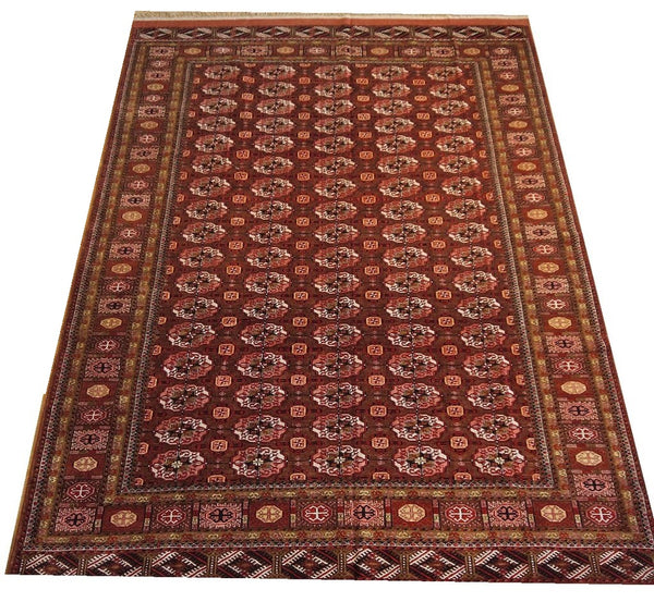 "16600-Royal Khal Mohammad Hand-Knotted/Handmade Afghan Rug/Carpet Tribal/Nomadic Authentic 9'0"" x 6'6"""