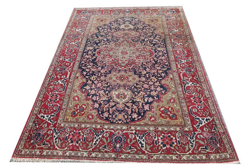 18113-Sarough Hand-Knotted/Handmade Persian Rug/Carpet Traditional Authentic