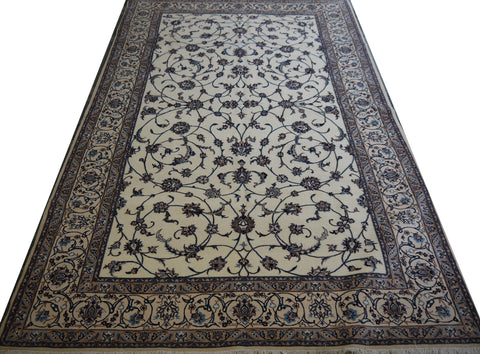 20567-Nain Hand-Knotted/Handmade  Persian Rug/Carpet Traditional Authentic