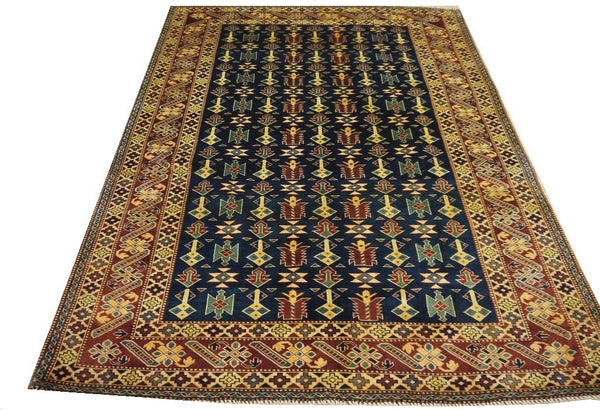 "19360-Royal Shirvan Handmade/Hand-knotted Afghan Rug/Carpet Tribal/Nomadic Authentic6'8"" x 5'1"""