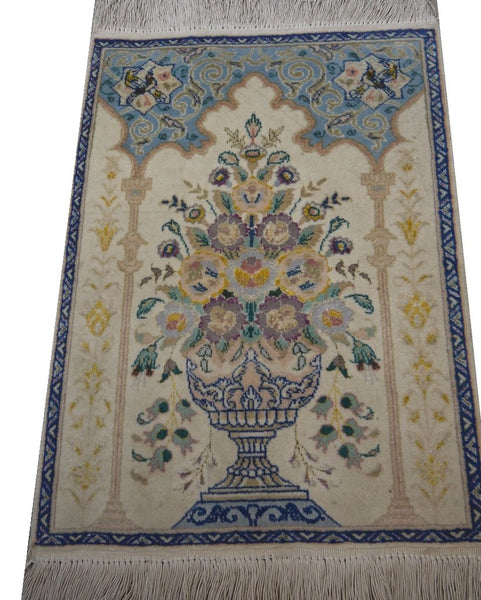 "19412-Tabriz Hand-Knotted/Handmade Persian Rug/Carpet Traditional Authentic2'0"" x 1'5"""