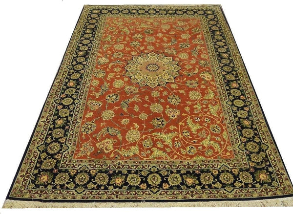 19782-Isfahan Hand-Knotted/Handmade Persian Rug/Carpet Traditional Authentic