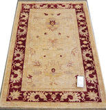 20640 -Chobi Ziegler Hand-knotted/Handmade Afghan Rug/Carpet Traditional Authentic