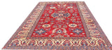 16023-Kazak Hand-Knotted/Handmade Afghan Rug/Carpet Tribal/Nomadic Authentic