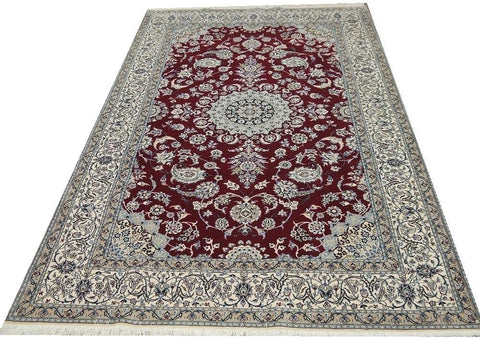 "19558-Nain Hand-Knotted/Handmade Persian Rug/Carpet Traditional Authentic 8'3"" x 5'1"""