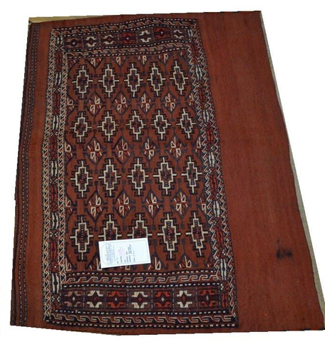 "15149-Turkmen Sumac Bag Hand-Knotted/Handmade Persian Rug/Carpet Tribal/Nomadicauthentic 3'5"" x 2'7"""