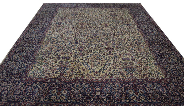 19789-Kerman Hand-Knotted/Handmade Persian Rug/Carpet Tribal/Nomadic Authentic