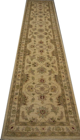 "19315-Chobi Ziegler Handmade/Hand-knotted Afghan Rug/Carpet Tribal/Nomadic Authentic 11'7"" x 2'7"""