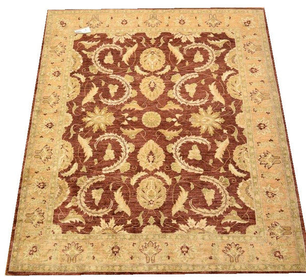 11007-Chobi Ziegler Hand-knotted/Handmade Afghan Rug/Carpet Traditional Authentic