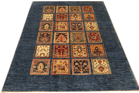 19299-Chobi Ziegler Hand-Knotted/Handmade Afghan Rug/Carpet Tribal/Nomadic Authentic