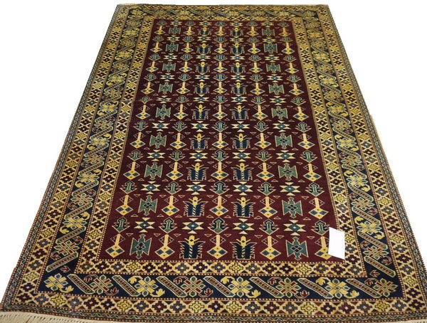 "19359-Royal Shirvan Handmade/Hand-knotted Afghan Rug/Carpet Tribal/Nomadic Authentic7'6"" x 5'2"""