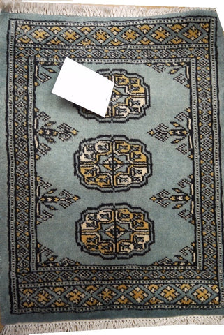 "20803 -Pakistan Hand-knotted/Handmade Pakistani Rug/Carpet Traditional Authentic2'1"" x 1'6"""
