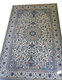 "15018 - Nain Persian Hand-Knotted Authentic/Traditional Carpet/Rug Silk-made 10'4"" x 6'7"""