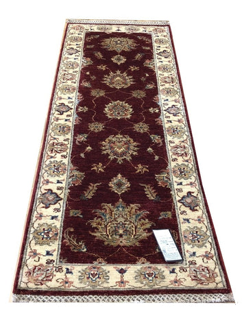 "21080-Chobi Ziegler Hand-knotted/Handmade Afghan Rug/Carpet Traditional Authentic  5'8"" x 2'0"""