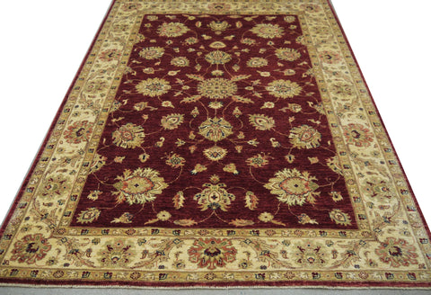 19272-Chobi Ziegler Hand-Knotted/Handmade Afghan Rug/Carpet Tribal/Nomadic Authentic