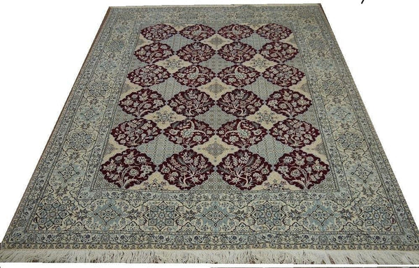 19556-Nain Hand-Knotted/Handmade Persian Rug/Carpet Traditional Authentic