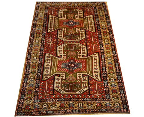 16072-Uzbek Hand-Knotted/Handmade Afghan Rug/Carpet Tribal/Nomadic Authentic