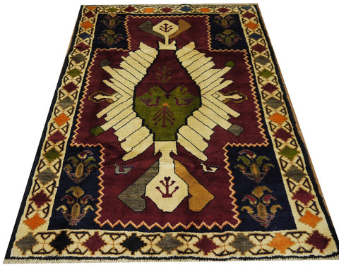 18251-Shiraz Hand-Knotted/Handmade Persian Rug/Carpet Tribal/Nomadic Authentic