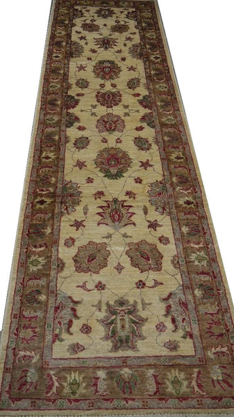 19351-Chobi Ziegler Handmade/Hand-knotted Afghan Rug/Carpet Tribal/Nomadic Authentic
