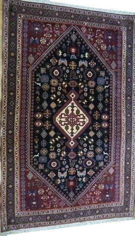 "15212-Abadeh Hand-Knotted/Handmade Persian Rug/Carpet Tribal/Nomadic Authentic 5'0"" x 3'3"""