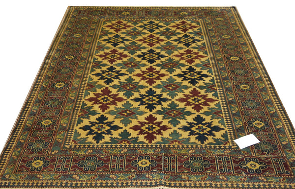 19367-Royal Shirvan Handmade/Hand-knotted Afghan Rug/Carpet Tribal/Nomadic Authentic