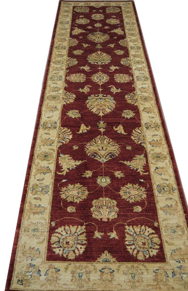 19338-Chobi Ziegler Handmade/Hand-knotted Afghan Rug/Carpet Tribal/Nomadic Authentic