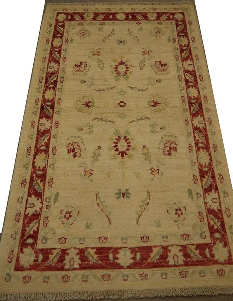 19217-Chobi Ziegler Hand-knotted/Handmade Afghan Rug/Carpet Tribal/Nomadic Authentic