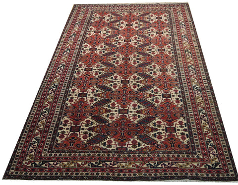 "16667-Meshkin Hand-Knotted/Handmade Persian Rug/Carpet Tribal/Nomadic Authentic 8'4"" x 5'3"""