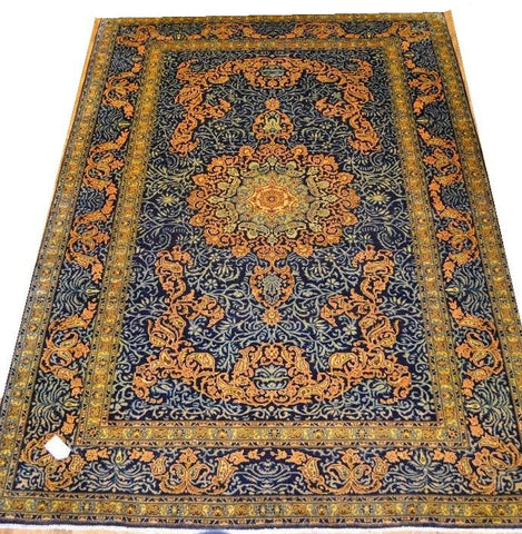 14439 - Isfahan Persian Hand-Knotted Authentic/Traditional Carpet/Rug 11'10'' x 8'2''