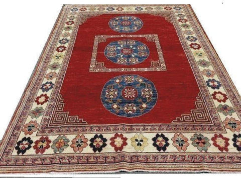 "15582-Chobi Ziegler Hand-Knotted/Handmade Afghan Rug/Carpet Tribal/Nomadic Authentic 9'5""x6'6"""