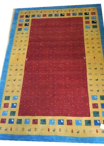 "15083 - Lori Persian Hand-Knotted Authentic/Traditional Nomadic/Tribal Gabbeh 9'1"" x 6'3"""