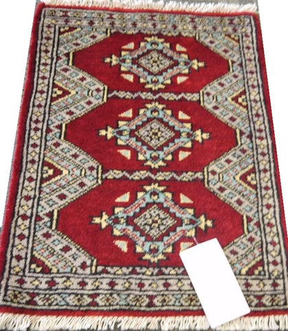 20696 -Bokhara Hand-Knotted/Handmade Pakistani Rug/Carpet Tribal/Nomadic Authentic