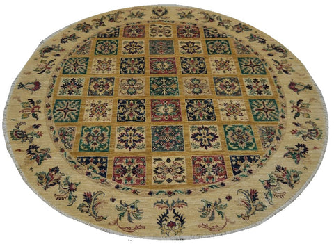 "18678-Chobi Ziegler Hand-Knotted/Handmade Afghan Rug/Carpet Tribal/Nomadic Authentic 5'9"" x 6'0"""