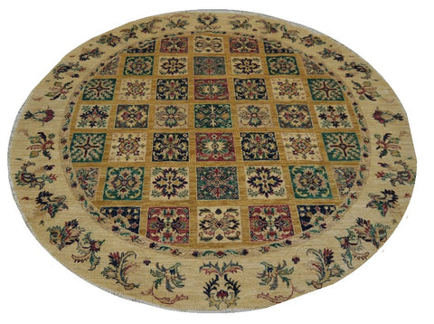 18676-Chobi Ziegler Hand-Knotted/Handmade Afghan Rug/Carpet Tribal/Nomadic Authentic
