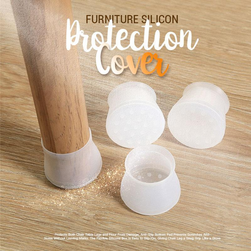 Round & Square Furniture Silicone Protection Cover 16pcs/set