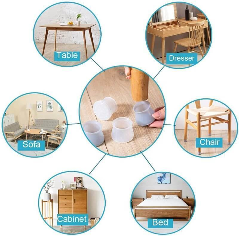 (16pcs)Furniture Silicone Protection Cover2