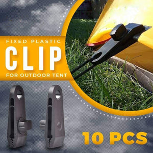 10 PCS Fixed Plastic Tent Clips For Outdoor Camping