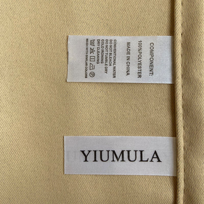 YIUMULA SLIDING DOOR CURTAINS, Taupe Brown, 1 PANEL - Baby's First Class
