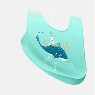 Adjustable Waterproof Baby Silicone Bib - Baby's First Class