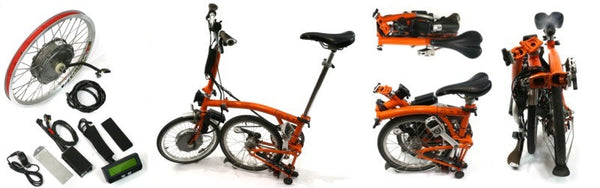 Grin Tech Brompton Folding Electric Bicycle Conversion Kit