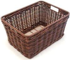 Large Fixed Rear Wicker basket with fittings