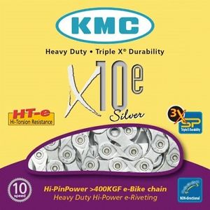 KMC E bike specific chains 9, 10 & 11spd
