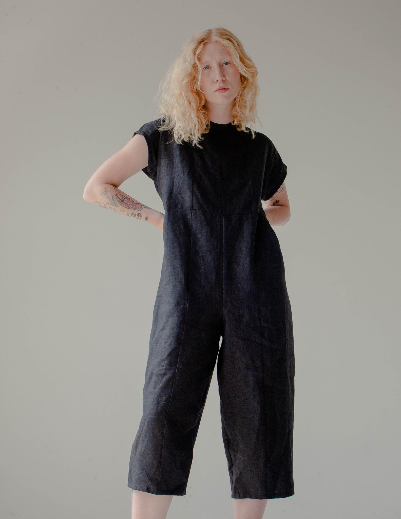 decoy jumpsuit, linen - the general public