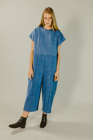 oversized denim jumpsuit by the general public