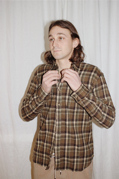 fuzzy olive flannel
