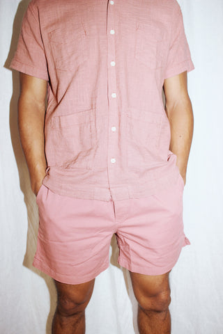 Dusty Rose Drawstring Shorts | Corridor | The General Public | Missoula, MT